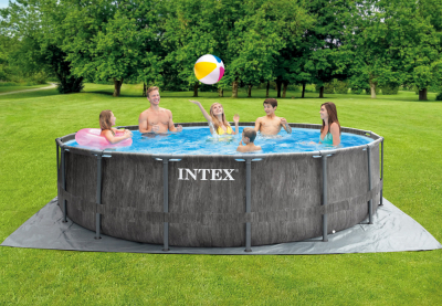 Каркасный бассейн Intex 26742WP Greywood Prism Frame Pool (457 х 122 см) + аксессуары
