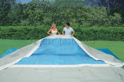 Каркасный бассейн Intex 28350 OEM Rectangular Ultra Frame Pool (400 х 200 х 100 см) + лестница