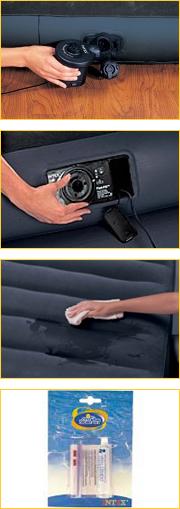 Использование насосов с  надувными изделиями